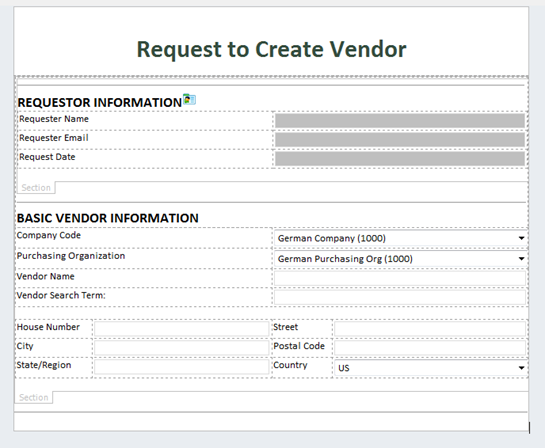 Add Accounting Info To Vendor Request View