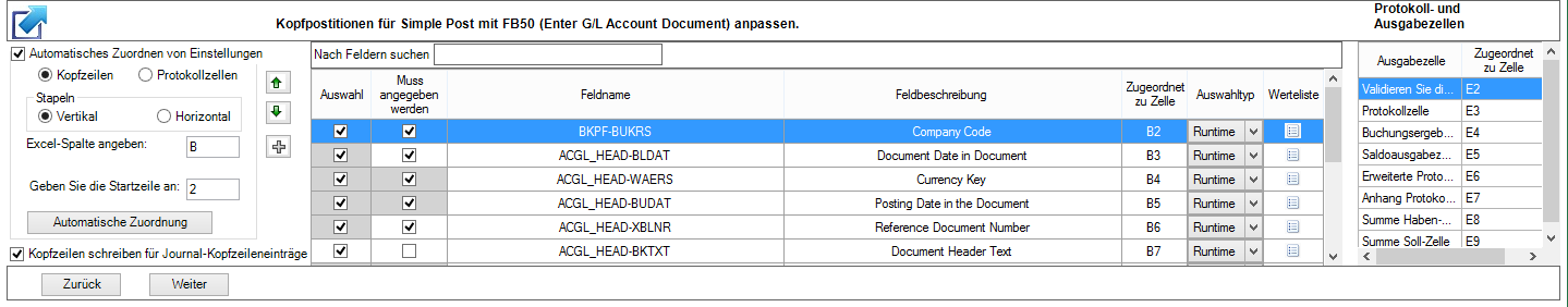 Benutzerdefinierte Skripte in Journal Entry importieren