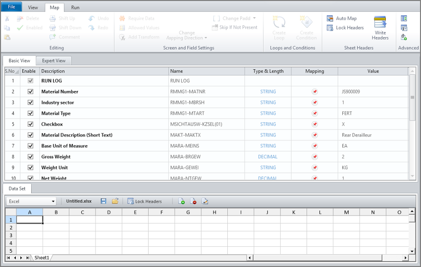 Map the fields, Studio v11 Data Mapping In Excel on