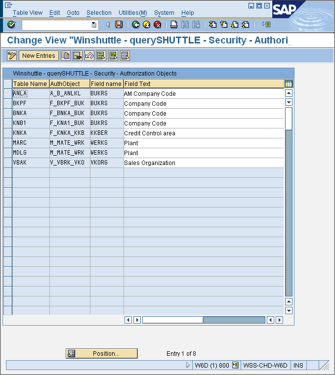 Winshuttle Query: Description of security and maintaining