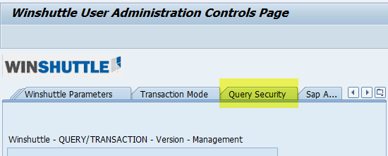 Change, insert or delete items in the Query custom security
