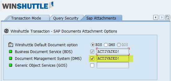 Activate or deactivate an SAP Attachment service