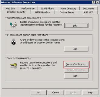 Enabling SSL with Winshuttle Server