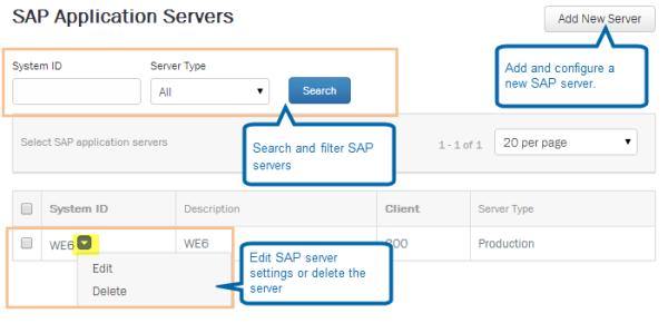 Winshuttle Foundation v11 settings: SAP Application Servers