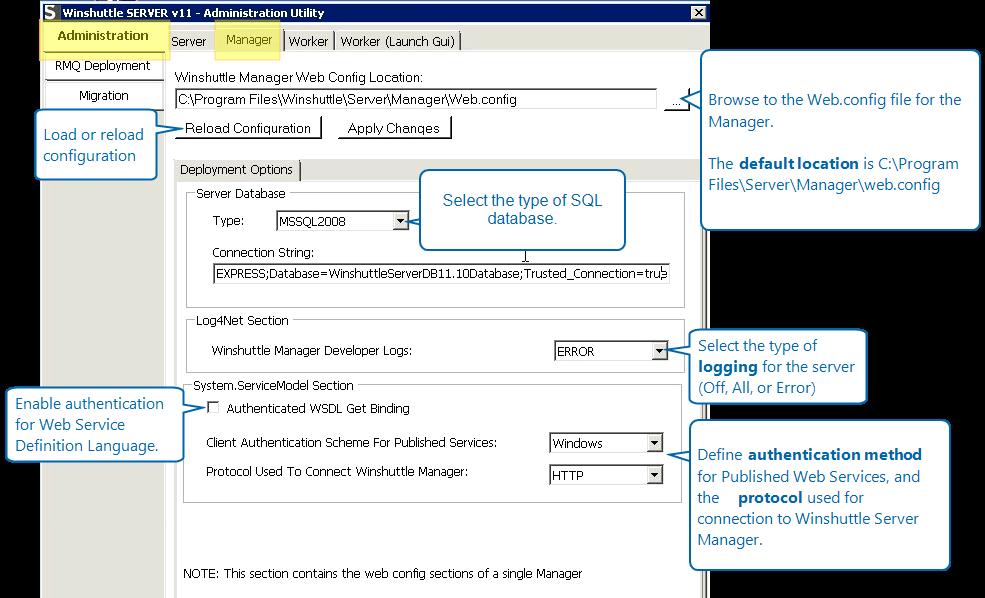 SAP Integration Server 11 x Admin Tool: Configuring the manager