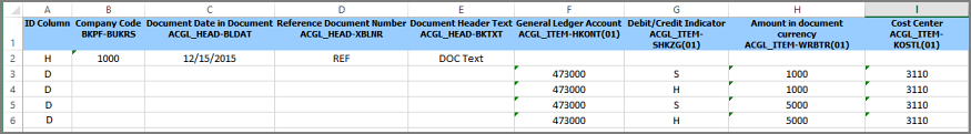 data added to excel file