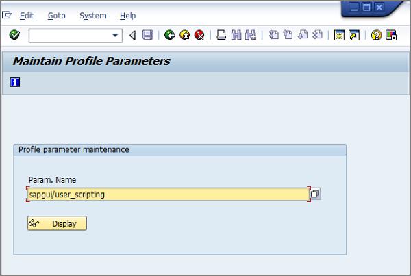 enter parameter name