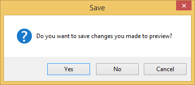 prompt to save preview file