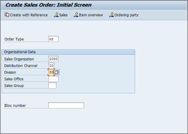VA01 step by step: Creating a sales order with reference