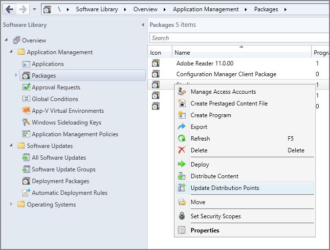 Network installation using Microsoft SCCM, Studio v11