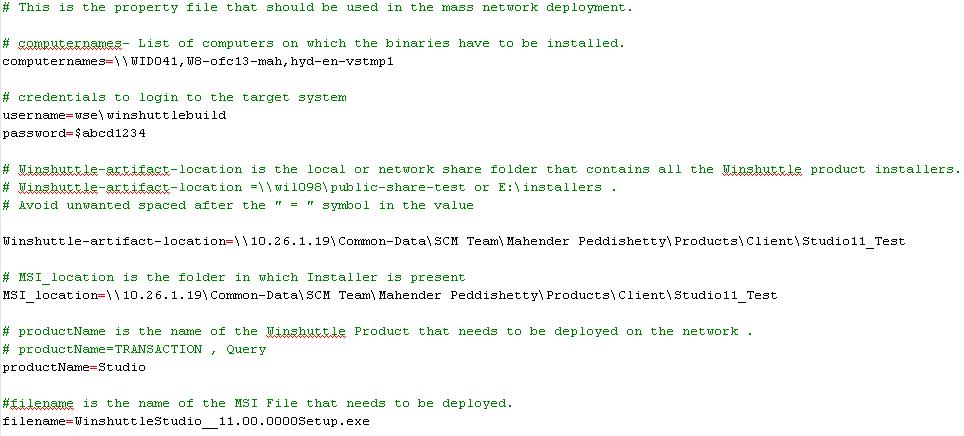 Network installation using SysInternals PsExec tool, Studio v11