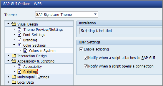 GUI scripting and Windows scripting, Studio v12