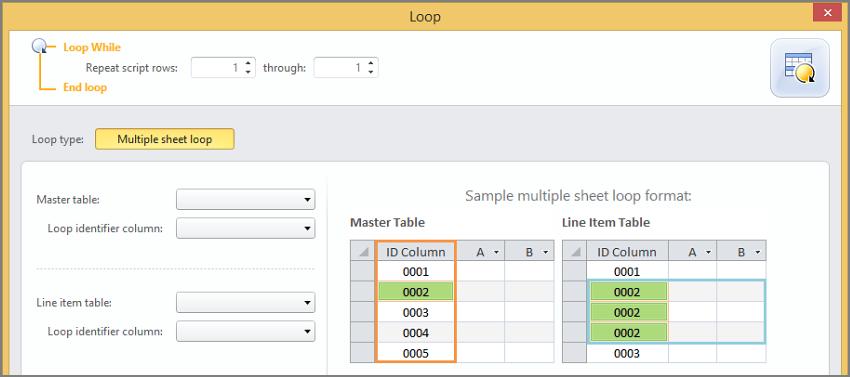 Add a loop in Access, Studio v11