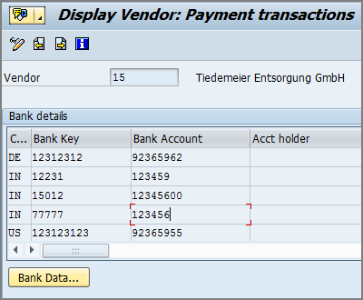 Function Module for vendor-payment transactions